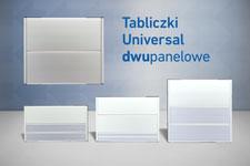 tabliczki przydrzwiowe universal 2 panelowe